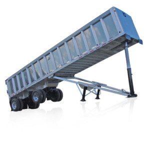 frameless dump trailer