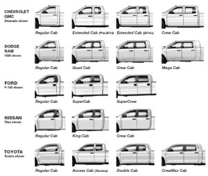 Pickup Truck Cab Sizes >> Pickup Truck Cab Styles - DCI Solution
