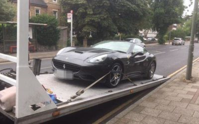 Police seize £150,000 Ferrari which son took for spin while his father was on holiday